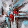 Pittura a olio acrilica astratta della riproduzione