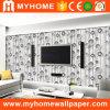 Papel pintado de la sala de estar 3D del PVC de la alta calidad para la decoración de la pared interior