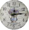나무로 되는 벽 꽃 시계