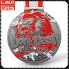 Medalla bonita y colorida del deporte con aduana