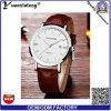 Do relógio luxuoso do homem de negócios do couro genuíno do relógio dos homens quentes relativos à promoção da venda Yxl-086 relógio feito sob encomenda dos homens do logotipo