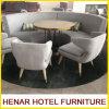 Modernes hölzernes Bein-graue Gewebe-halber Mond-Schnittsofa-Hotel-Vorhalle-Möbel