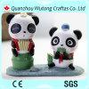 Estatuilla encantadora hecha a mano de la panda del regalo del recuerdo de la resina de la venta caliente