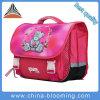 saco de escola encantador do poliéster da menina dos desenhos animados da cor-de-rosa do teste padrão da cerveja de 38cm