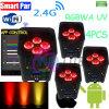 Des Radioapparat-4/6 LED*6in1 RGBWA kann UVnennwert batterie-Telefon APP-LED Lichter