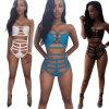 Swimwear sexy del bikini tre colori che tirano lo Swimwear in secco del vestito