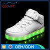 De Hoogte van de heet-verkoopt Zuivere Witte LEIDENE Schoenen van Sporten sneed LEIDENE Schoenen