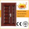 Porta principal de aço das portas do pátio do ferro feito (SC-S167)
