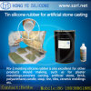 Étain Cured Silicone Rubber pour Artificial Stone Casting