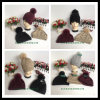 Sombrero hecho punto lanas unisex clásicas de la gorrita tejida de la venta al por mayor del estilo con la piel POM Poms del mapache