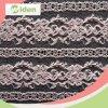 Ткань шнурка Chantilly шнурка розового цвета Nylon сетчатая