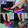 Zapatos corrientes de carga luminosos de la luz LED del USB