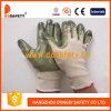 Бежевый нейлон с зеленым нитрилом Glove-Dnn510