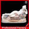 Figura tamanho real de descanso cinzeladura de pedra da estátua de mármore da escultura
