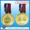 Medalla redonda de encargo de la raza de la medalla de oro