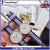 Il caso della parte posteriore dell'acciaio inossidabile Yxl-620 coppia l'orologio per gli uomini e le donne con le cinghie del nylon di NATO