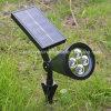 Lâmpada ao ar livre leve solar do gramado do jardim do projector da potência solar do diodo emissor de luz