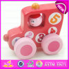 em Sale Colored Kids Small Craft Wooden Car Toy, En71 Wooden Toy Car com Four Wheels W04A179b
