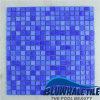 telha de vidro de derretimento do mosaico da piscina azul de 15X15mm (BGC015)
