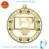 Medalla barata de encargo del baloncesto del chapado en oro 3D de China en el sellado de la aleación del cinc