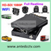 H. 264 128GB SD Card & GPS Tracking를 가진 Economical 4 Channel Mobile DVR