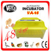 2014 incubadoras Va-48 do ovo da galinha inteiramente automática mini