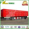 50 톤 공기 현탁액 수송 화물 상품 측 열려있는 트럭 트레일러