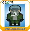 Forme USB personnalisé par PVC Pendrive (PAR EXEMPLE 578) d'homme de sapeur-pompier