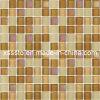 Brown смешал стеклянные плитки мозаики для украшения стены и пола