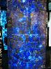 Pierre semi-précieuse d'agate transparente bleue