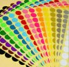 Pequeñas etiquetas engomadas coloridas redondas del papel de imprenta (ST-005)