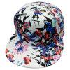 Gorra de béisbol ajustada tela floral con el pico plano Ne1503