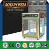 Caso rotatorio de la visualización del contador de la pizza/de visualización de la pizza/máquina del calentador de la pizza