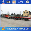 8 hydraulisches Steering Axle Trailer Lowbed für Transport Heavy Machine