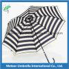 Poste en aluminium de côté de tissu de polyester de trame pliant le parapluie de Sun