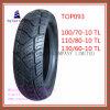Schlauchlos, ISO-Nylon 6pr, lange Lebensdauer-Motorrad-Reifen mit 110/70-10tl, 110/80-10tl, 130/60-10tl