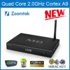 3D 4k Quad Core Android 4.4 TV Box con Amlogic S802 LED Display Support Dual Band WiFi Build Internal Bluetooth Smart TV Box