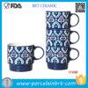 De mooie Buitensporige Retro Stapelbare Ceramische Mok van het Patroon