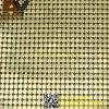 Cortina decorativa de pano metálico da tela