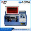 Штемпель MDF малого резца Engraver лазера CNC автомата для резки лазера миниого Desktop пластичный гравировальный станок лазера 40 ватт акриловый