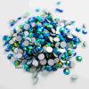 Rhinestones di cristallo non caldi rotondi dei diamanti della parte posteriore piana di difficoltà di vetro dello zaffiro ab per il cappello dei vestiti (FB-ss10 grado dello zaffiro ab /3A)