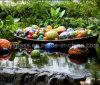 Decoration를 위한 다색 Ball Blown Glass Craft Sculpture