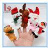 La peluche fabriquée à la main de bonhomme de neige de renne du père noël de Noël joue le doigt &#160 ; Marionnettes