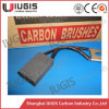 16*25*40mm Carbon Brush para Locomotive Traction Motor Use