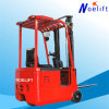 1ton 1.5ton 3wheels Electric Forklift Truck AC Motor