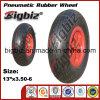 외바퀴 손수레를 위한 압축 공기를 넣은 13 인치 고무 바퀴