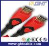 24k het goud plateerde 1.5m Kabel HDMI de Van uitstekende kwaliteit met Nylon Vlechten 1.4V (D002)