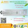 Proyectos gubernamentales solar Farola LED con sensor de movimiento PIR