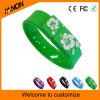 Mecanismo impulsor verde del flash del USB de la pulsera con alta calidad