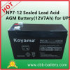 Np7-12 dichtete Leitungskabel saure AGM-Batterie (12V7Ah) für UPS
